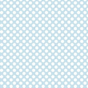 polka dots light blue, tiny scale