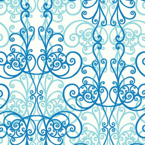 Gothic Masquerade sky blue by Pippa Shaw