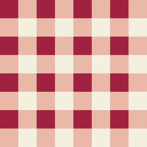 Berries and cream Gingham 2x2