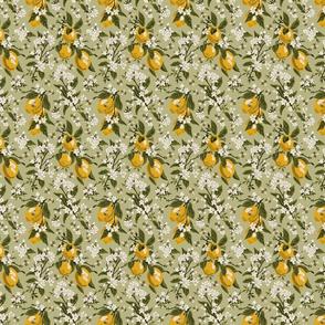 Bees & Lemons - Green - Mini - (color corrected 5/21)