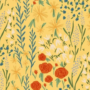 melimba FANCY FLORAL yellow