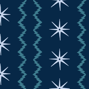 STARS AND STRIPES Midnight teal copy