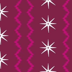 STARS AND STRIPES Magenta Plum