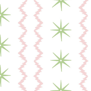 STARS AND STRIPES Pink green