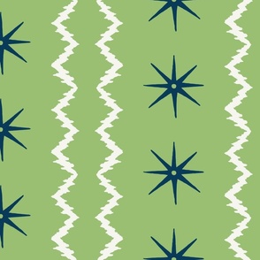 STARS AND STRIPES Sring green Navy