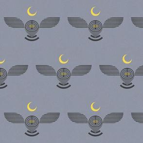Grey Owl and Moon