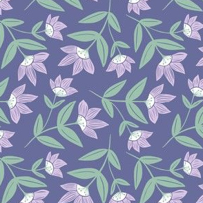 Moon Flowers, Purple and Green