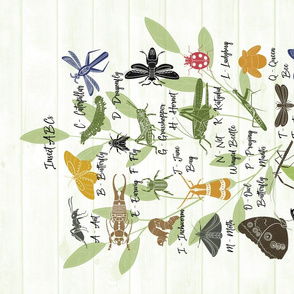 Insect ABC Tea Towel