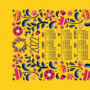 2021 Midsummer Festival Floral Tea Towel Calendar