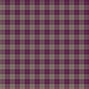 "Erskine dress tartan, 2"" plum and grey"