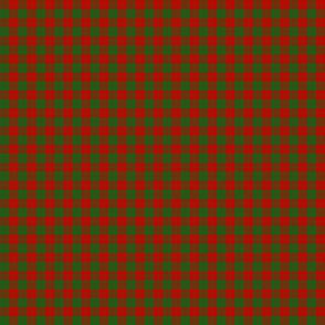 "Erskine tartan, 1"" red and green"