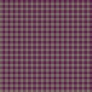 "Erskine dress tartan, 1"" plum and grey"
