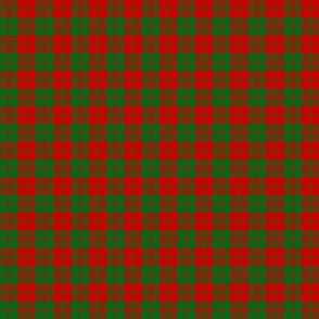 "Erskine tartan, 2"" red and green"