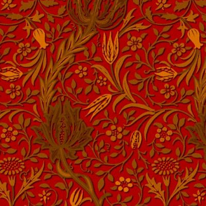 Flora ~ William Morris ~ Gilt Scroll on Watling