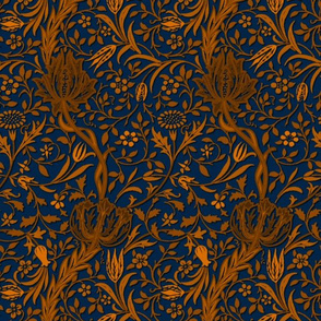 Flora ~ William Morris ~  Gilt Scroll on Starboard