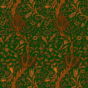 Flora ~ William Morris ~ Gilt Scroll on Jardin