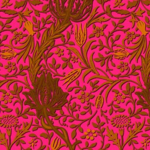 Flora ~ William Morris ~ Gilt Scroll on Courtesan