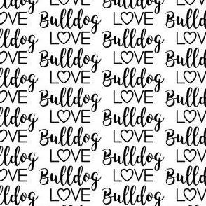 bulldog love text - #bullylove in navy blue