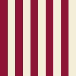 Stripe.Red & Cream
