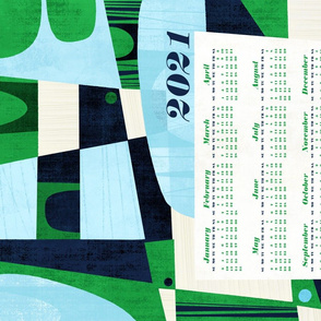 Greener Pastures 2021 Calendar Tea Towel