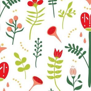 Folk Art Floral Dream - Xmas (medium)