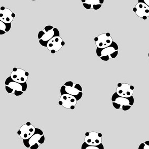 Baby Panda - Light Gray