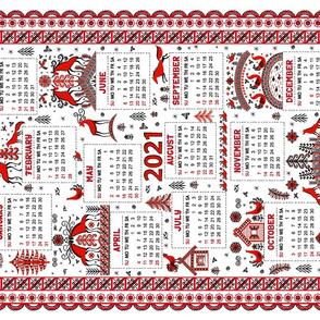 Calendar 2021. Mezen Painting.