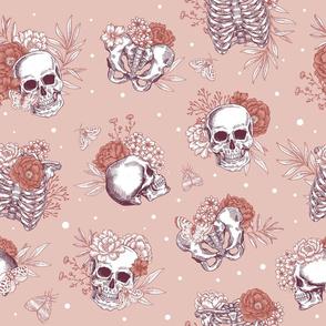 Cute floral skulls