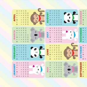 Super Cute Kawaii Animals 2021 Calendar