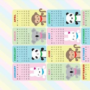 Super_cute_kawaii_animals_2021_calendar