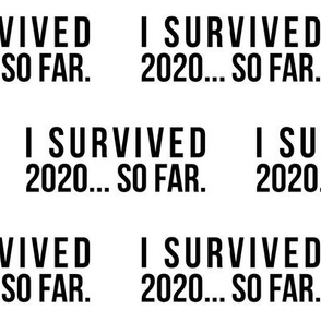 I Survived 2020... So Far