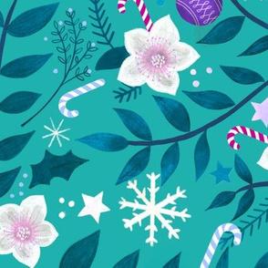 Christmas Garlands - Aqua
