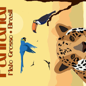 Pantanal Brasil Vintage Poster