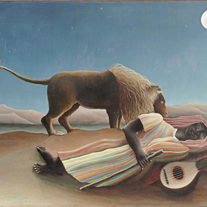 Henri Rousseau - The Sleeping Gipsy 1897 - 27x18 in  68x45 cm