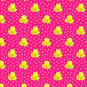 Grande pink dots triple berries