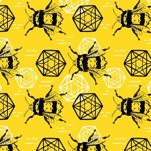 Honeycomb and Bees horizontal small scale