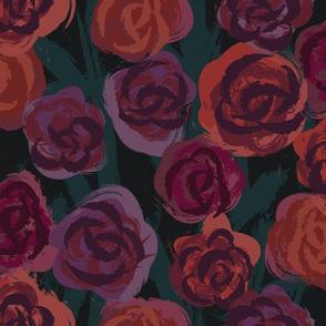 Painted Roses Darker