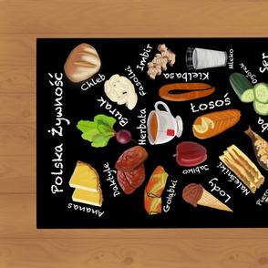 Polish Foods Alphabet Tea Towel