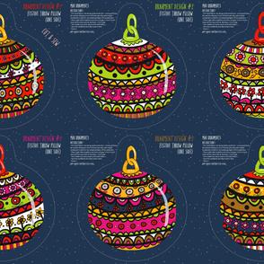 Ornaments: 6 x Pillow Designs (Yard)