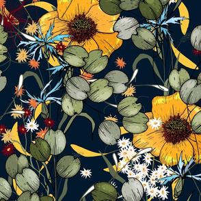 Big botanical painting
