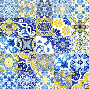 Portuguese Azulejos Mix No 1