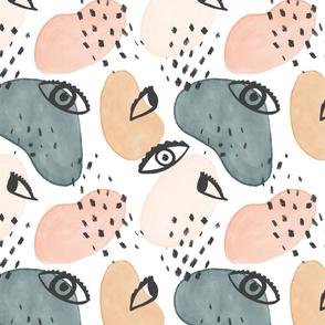 Painterly Eyes Pattern