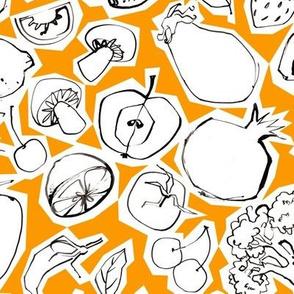 Fruits & Roots - Medium - Tangerine