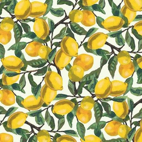 Painted Lemon Branches, Small