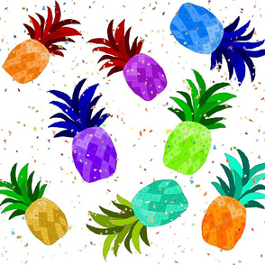 Rainbow Pineapples Confetti