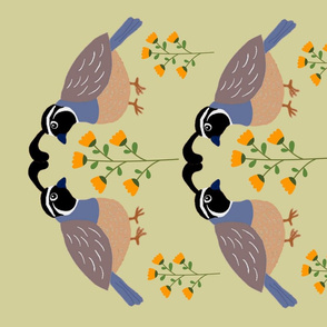 California Quail Tea Towel