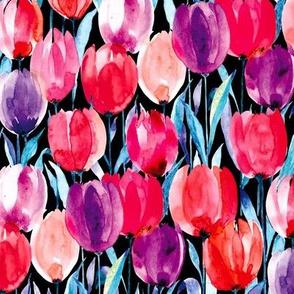 tulips black M