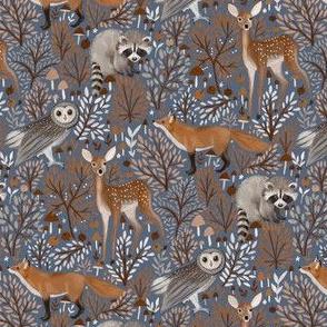Brown-Forest-Animals blue