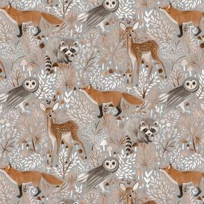Brown-Forest-Animals grey