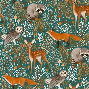 Brown-Forest-Animals dark green